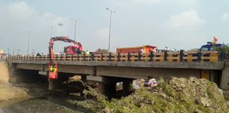 सादाबाद के करबन नदी पुल